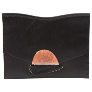Proenza Schouler New Curl Black Leather Clutch