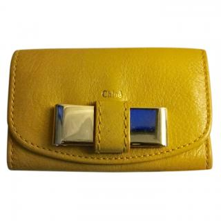 Chloe Lily yellow Leather Key case