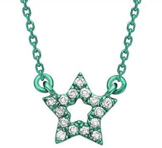 AS29 Mini Star Necklace 18ct Gold & Diamond