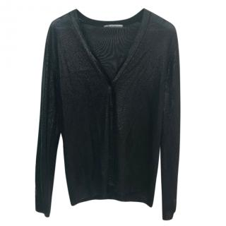 Alexander Wang Black V Neck Cardigan