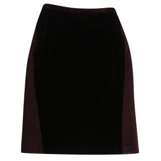 Dsquared Velvet Panel Pencil Skirt