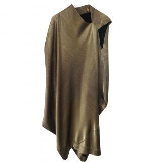 Vivienne Westwood Anglomania Gold Draped Asymmetric Dress