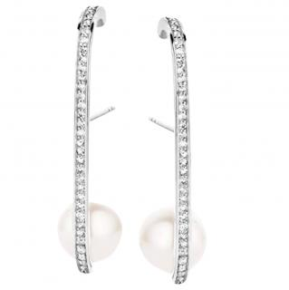 Joelle Diamond & Pearl Earrings