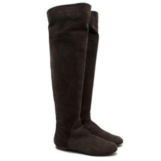 Giuseppe Zanotti Brown Suede Effect Boots