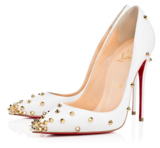 Christian louboutin Degraspike 120mm White Leather