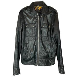 Diesel Superior Black Leather Biker Jacket