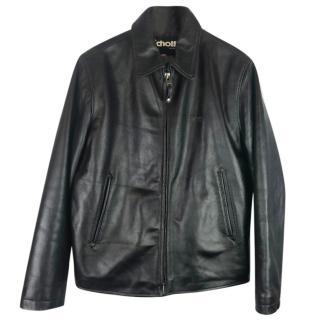 Schott NYC Black Leather Biker Jacket
