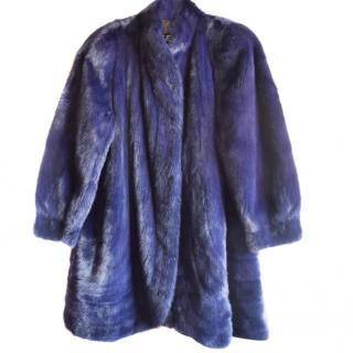EMBA blue mink fur coat