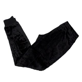 Joseph Black Velvet Cuffed Trousers