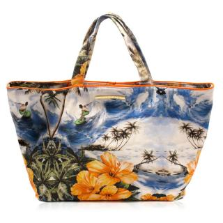 Stella McCartney Hawaiian-print Canvas Tote Bag