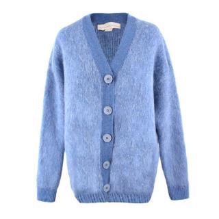 Stella Mcartney Blue Wool & Mohair Cardigan