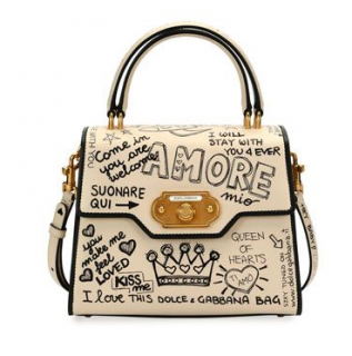 Dolce & Gabanna Welcome Amore Graffiti Handbag