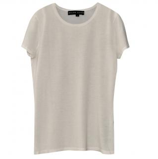 Ralph Lauren Black Label white cashmere top