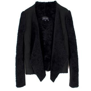 Felder Felder Black Suede & Shearling Jacket