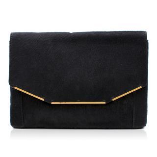 Lanvin Black Pony-hair Clutch Bag