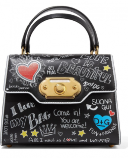 Dolce & Gabanna Welcome Amore Graffiti Black Handbag