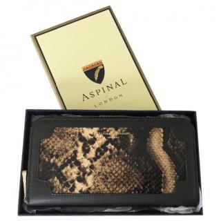 Aspinal snake print purse