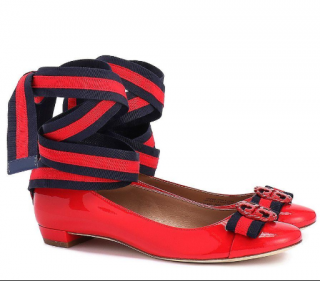 Tory Burch Maritime Ankle Wrap Ballet Flats