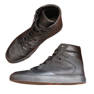 Balenciaga Black High Top Sneakers