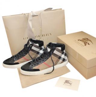 Burberry Men's Panther Check Hi-Top Sneakers