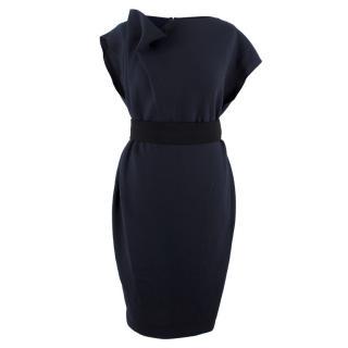 Roksanda navy wool belted dress