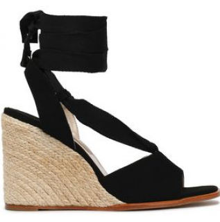 Paloma Barcelo Faco suede espadrille wedge sandals