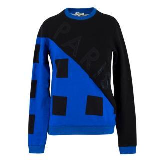 Kenzo Blue & Black 'Paris' Logo Sweatshirt