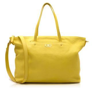 Salvatore Ferragamo Yellow Tote Bag