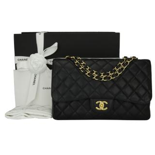 CHANEL Single Classic Flap Jumbo Black Caviar Bag