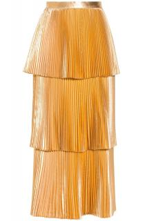 Stella McCartney Gold Tiered Melody Skirt