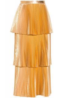 Stella McCartney Gold Tiered Melody Skirt