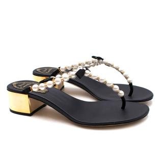 Rene Caovilla Current Season Eliza Flip 40 Sandals
