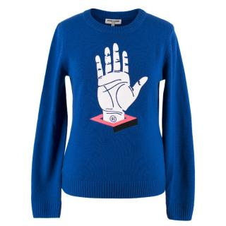 Opening Ceremony Blue Hand Print Jumper