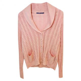 Ralph Lauren Collection Pink Knitted Cardigan.