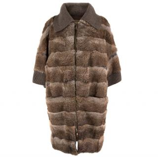 Giuliana Teso Rabbit Fur Coat