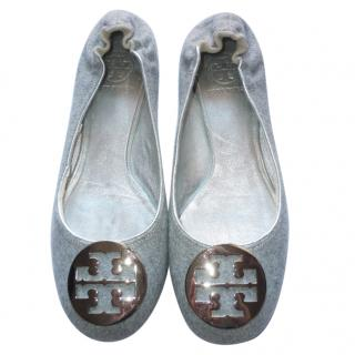 Tory Burch Grey Reva Flats