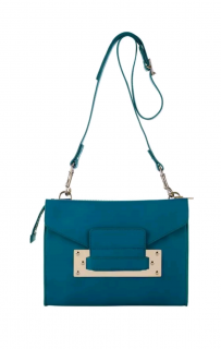 Sophie Hulme Turquoise 2-pouch Envelope Bag