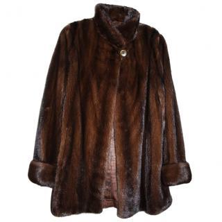 Saga Mink Fur Parka Coat