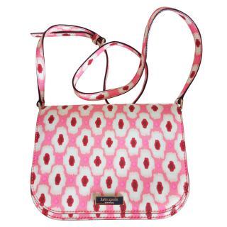Kate Spade pink printed crossbody bag