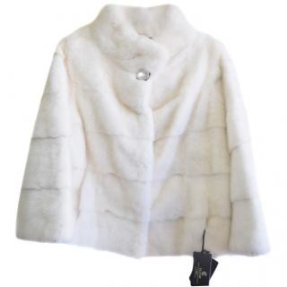 Elcom saga furs white mink jacket