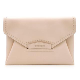Givenchy Large Nude/Pale Blush Antigona Envelope Clutch
