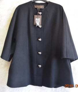 Louis Vuitton 100% black cashmere coat