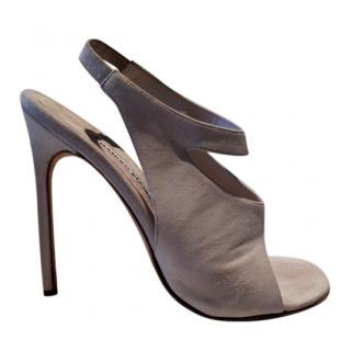 Manolo Blahnik Cream Sandals