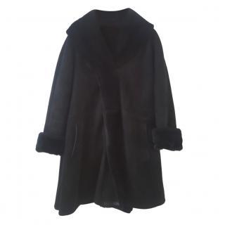 Ruffo Black Lambskin Coat