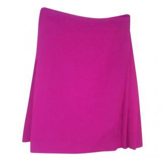 Le kilt pink wool mini skirt