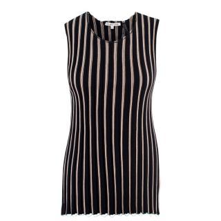 Helmut Lang Black Pinstripe Vest