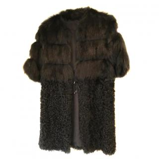 Coast Weber Ahaus Lamb Shearling & Fox Fur Coat