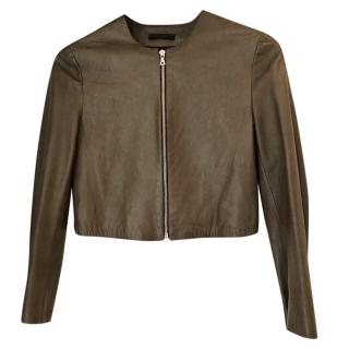 The Row Leather biker jacket