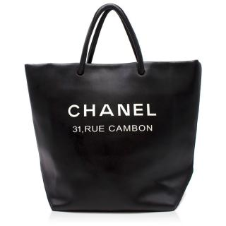 Chanel Black Runway 'Rue Cambon' Tote Bag