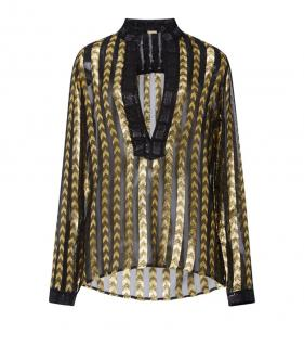Dodo Bar Or Black & Gold Blouse